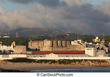 tarifa, andalusia, 古い, スペイン, 要塞