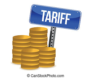 tariff concept illustration design over a white background