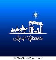 tarjeta, advenimiento, navidad, saludo
