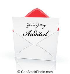 tarjeta, auditar, obteniendo, palabras, usted