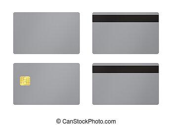 tarjeta, blanco, gris, plano de fondo