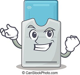 tarjeta clave, carácter, confiado, estilo, feliz, exitoso,...