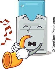 tarjeta clave, carácter, estilo, trompeta, rendimiento,...