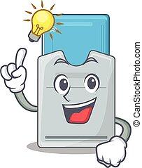 tarjeta clave, gesto, carácter, tener, diseño, caricatura,...