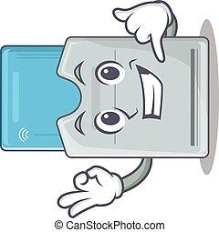 tarjeta clave, mascota, llamada, mí, estilo, divertido,...