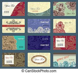 tarjeta comercial, colección