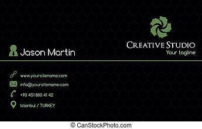 tarjeta comercial, creativo