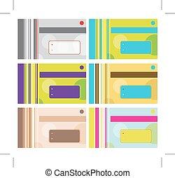 tarjeta comercial, diseño, con, lugar, para, su, texto