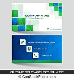 tarjeta comercial, plantilla