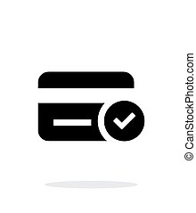 tarjeta de crédito, acceso, icono, blanco, fondo.