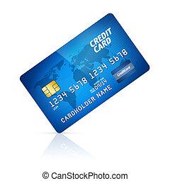 tarjeta de crédito, aislado