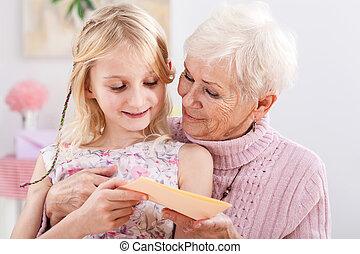 tarjeta de cumpleaños, abuelita