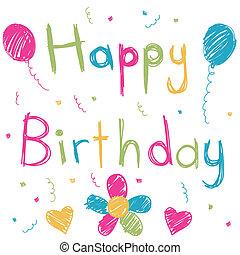 tarjeta de cumpleaños, feliz