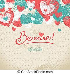 tarjeta, de, día de los enamorados