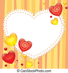 tarjeta de día de los enamorados, saludo