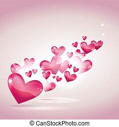 tarjeta de día de los enamorados, y, plano de fondo