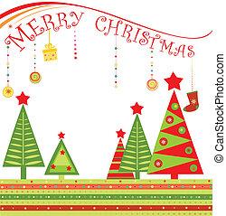 tarjeta de felicitación, navidad