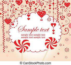 tarjeta de felicitación, rojo