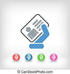 tarjeta de identidad, icono