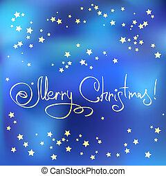 tarjeta de navidad, con, estrellas