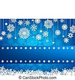 tarjeta de navidad, con, navidad, snowflake., eps, 8