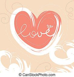 tarjeta, de, valentine, día