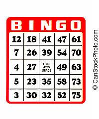 tarjeta del bingo