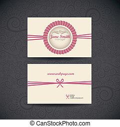 tarjeta, empresa / negocio, retro