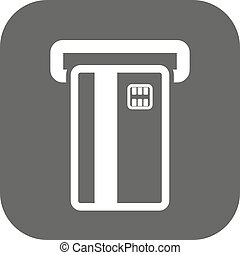 tarjeta, finanzas, icon., símbolo., atm, pago, ecommerce, creditcard, banca, ranura, plano