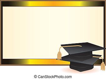tarjeta, graduación, invitación