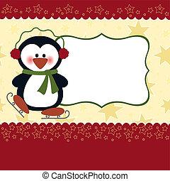 tarjeta, navidad, saludos, plantilla, blanco