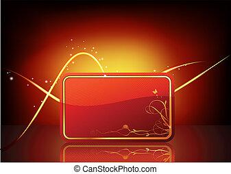 tarjeta obsequio, adornado