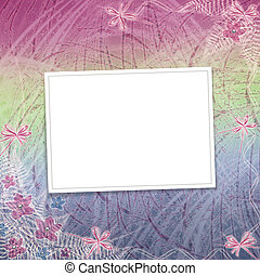 tarjeta, para, invitación, o, felicitación, con, orquídeas, y, arco