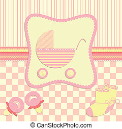 tarjeta, para, recién nacido