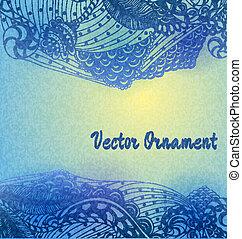 tarjeta, patrón,  ard,  hand-drawn, ingeniería, Ornamentos, invitación,  zentangle