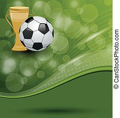 tarjeta, pelota, premio, fútbol