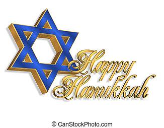 tarjeta, plano de fondo, hanukkah