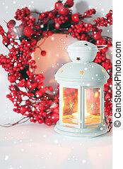 tarjeta, saludo, navidad