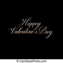 tarjeta, valentine, vector, feliz, día, diseño, caligrafía