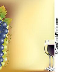 tarjeta, vino