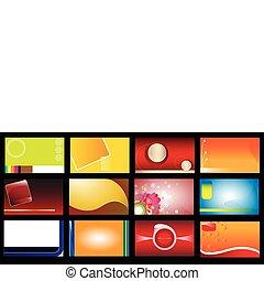 tarjetas, 12, conjunto, empresa / negocio