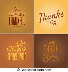 tarjetas, acción de gracias, colección