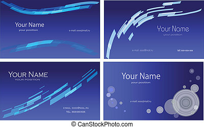 tarjetas, conjunto, colorido, empresa / negocio