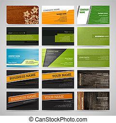 tarjetas, conjunto, empresa / negocio