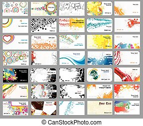 tarjetas, diferente, temas, empresa / negocio