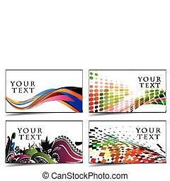 tarjetas, diseño, empresa / negocio, regalo, y