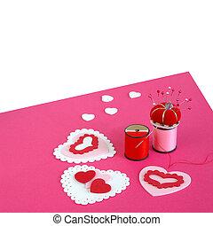 tarjetas, elaboración, valentine