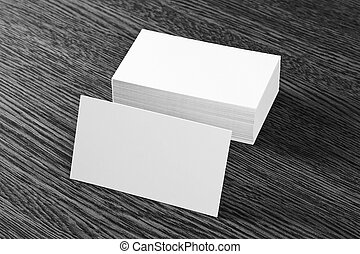 tarjetas, empresa / negocio, blanco