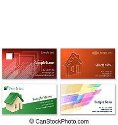 tarjetas, empresa / negocio, plantilla