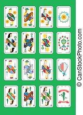 tarjetas, juego, español